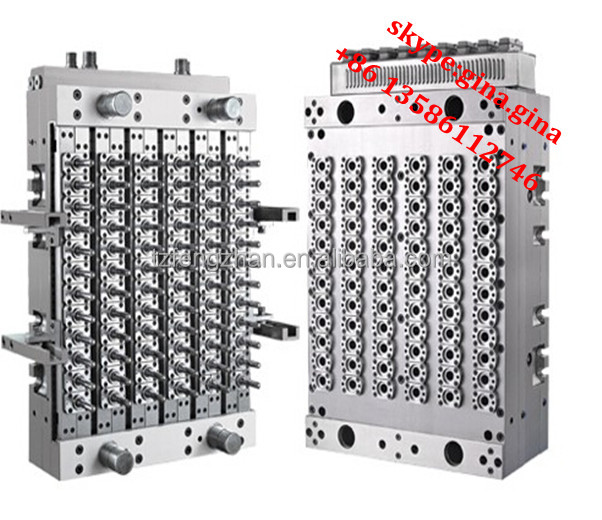 PET Preform mould with shut off nozzel hot runner system