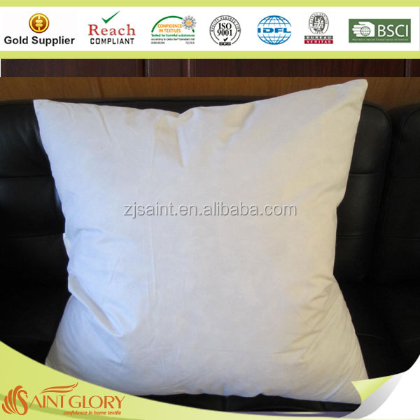 square white goose 95% feather 5% down cushion