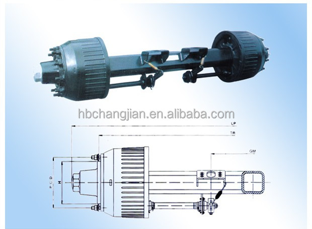 Direct factory !!!Hot sale German Type Inboard Drum Axle Series used for trailer/semi-trailer