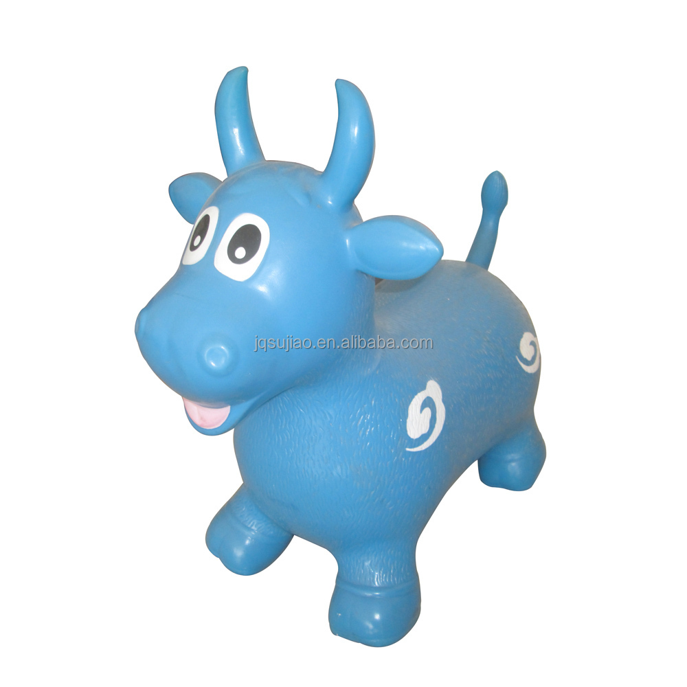 b6f5db402 Kids Inflatable Bouncing Bull Animal Jumping Toys For Children ...