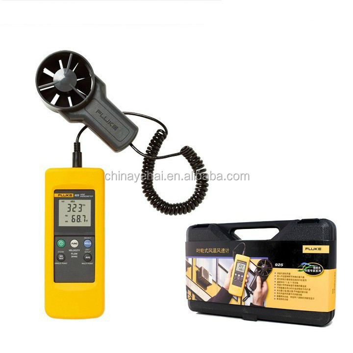 fluke 925 digital impeller anemometer meter wind speed air. Black Bedroom Furniture Sets. Home Design Ideas