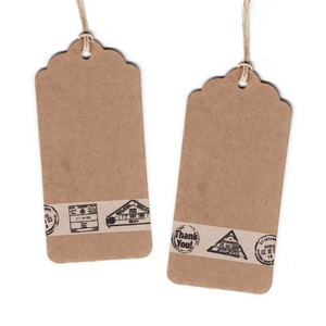 Custom fashion design name hang tag