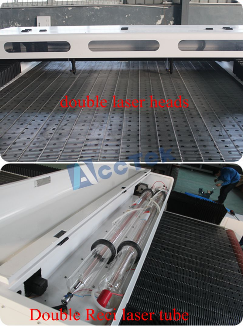 1626 co2 laser cutting machine for fabrics with auto feeding table