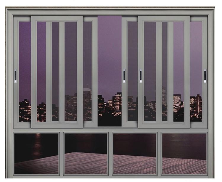 New design vertical tempered glass aluminum sliding window for Vertical sliding window design