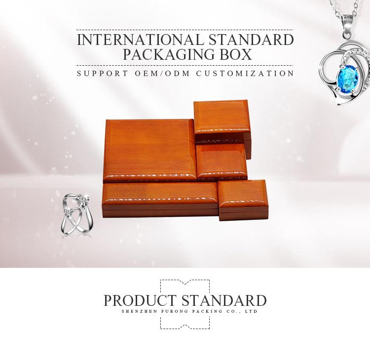 לוגו מותאם אישית תכשיטי אחסון עץ אריזת קופסא