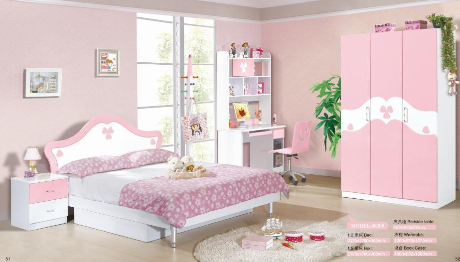 best sale competitive price bedroom furniture colorful princess kids