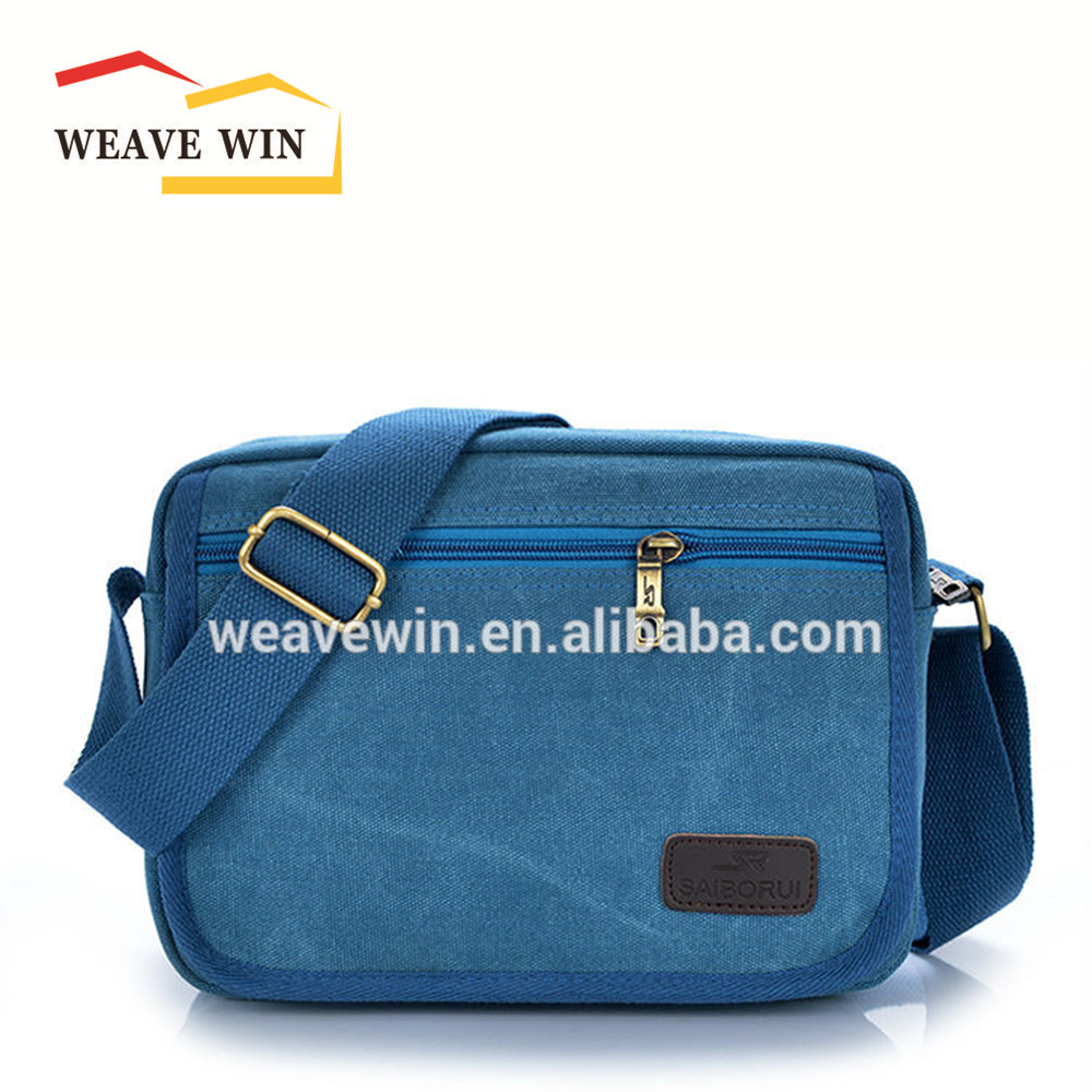 Durable two sided long strap shoulder bag new design mens shoulder bag