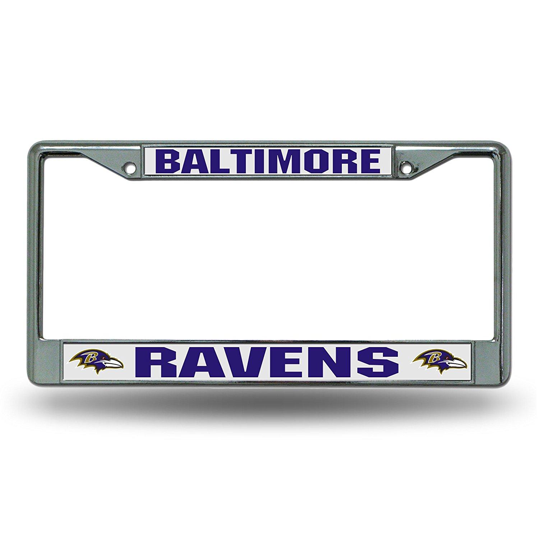 Rico Baltimore Ravens Chrome License Plate Frame