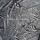 Zebra printed satin fabric