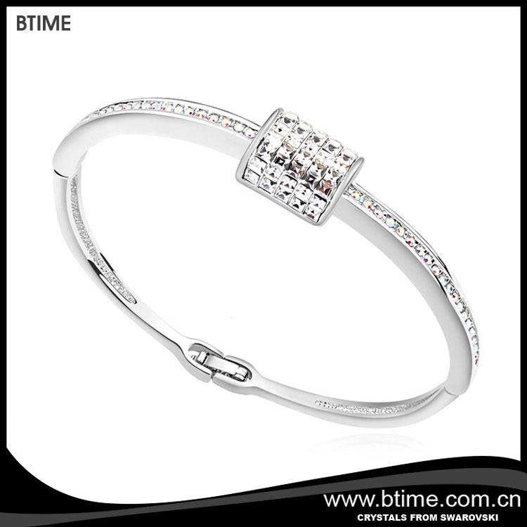 fashion wholesale price clear blue crystal bangle, cheap women bangle crystals from Swarovski