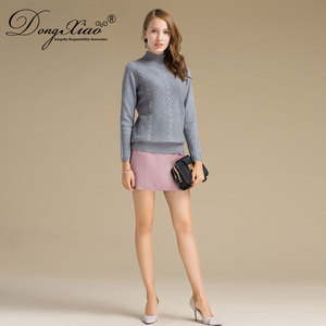 Best Selling Wholesales Classic Rib-Knit Collar Ladies Hand Knitted Sweater