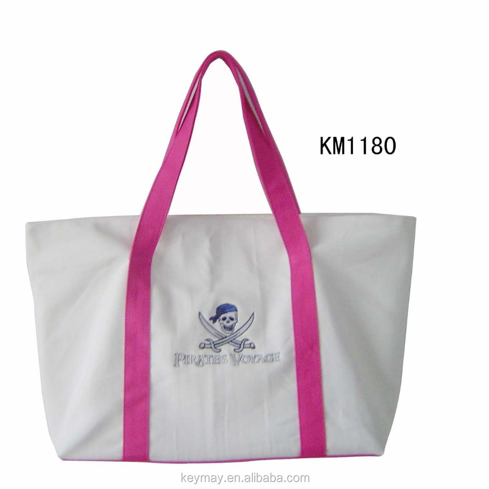 2016 China wholesale plain custom embroidery eco tote bags
