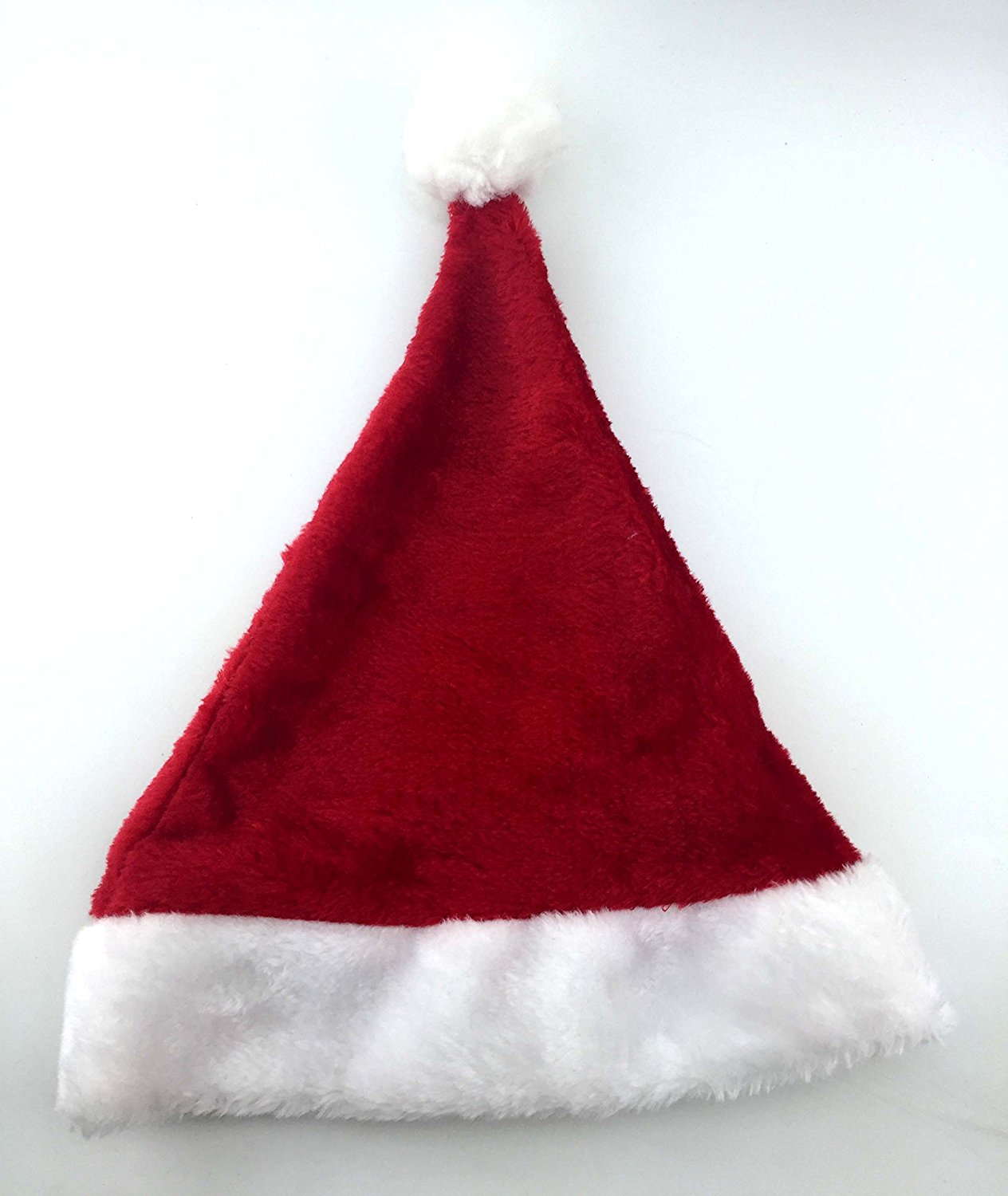 Santa Hat, Funny Red Plush Santa Christmas Party Hat Christmas Decorations Supplies Christmas Gift