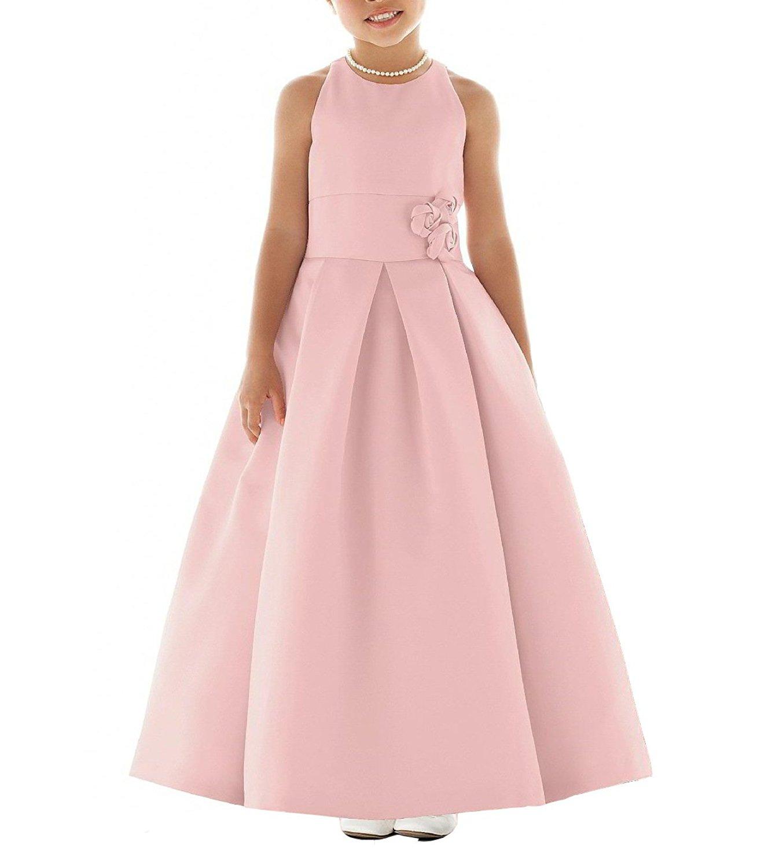 SlenyuBridal Girl's 2018 New Junior Bridesmaid Dress First Communion Wedding Flower Girl Dresses