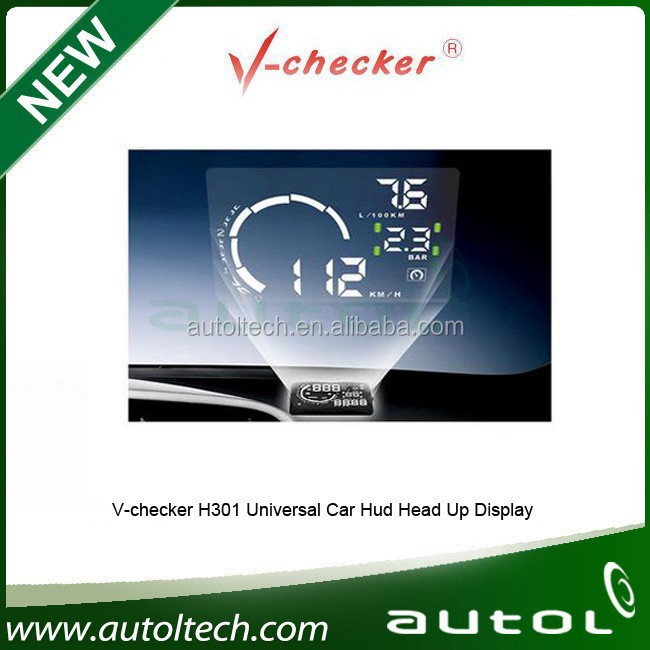 V-inspector h301 digital display hud inalámbrica con velocidad obd2 scanner