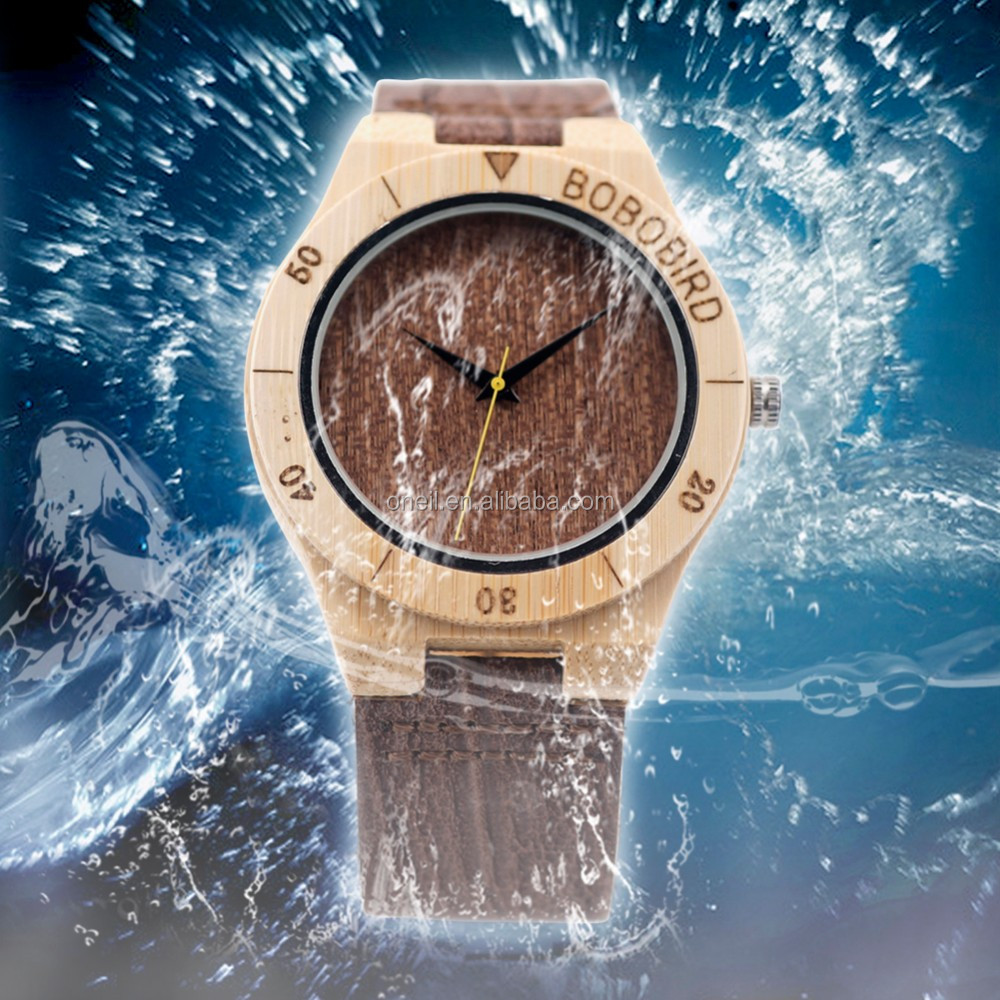 Oneil Waterproof Wood Watch Japanese Movement Automatic Watch With Date