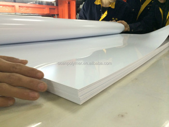 opaque offset printing glossy white pvc rigid plastic