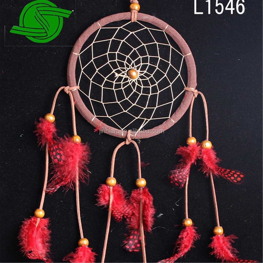 Wholesale Large size dream catcher Colorful Indian Cock Feather Dream Catcher