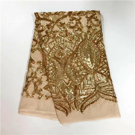 AQ3015#1 guangzhou embroidery sequined net lace fabric for woman clothes