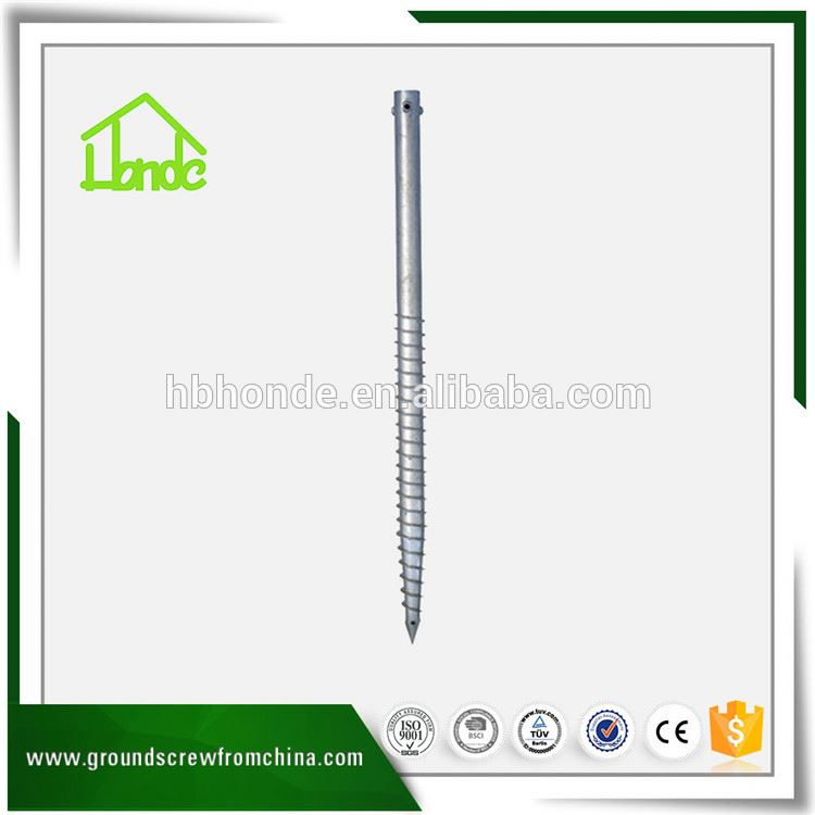 factory direct spiral powder coated screw pile ground earth anchor for construction
