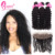 100% Raw Unprocessed Virgin Human Hair Weave Bundles With Lace Frontal 13x4