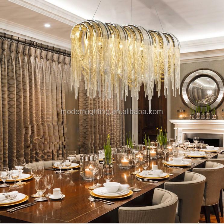 Simple wedding stage decoration ideas modern pull long chain modern chain chandelier junglespirit Images