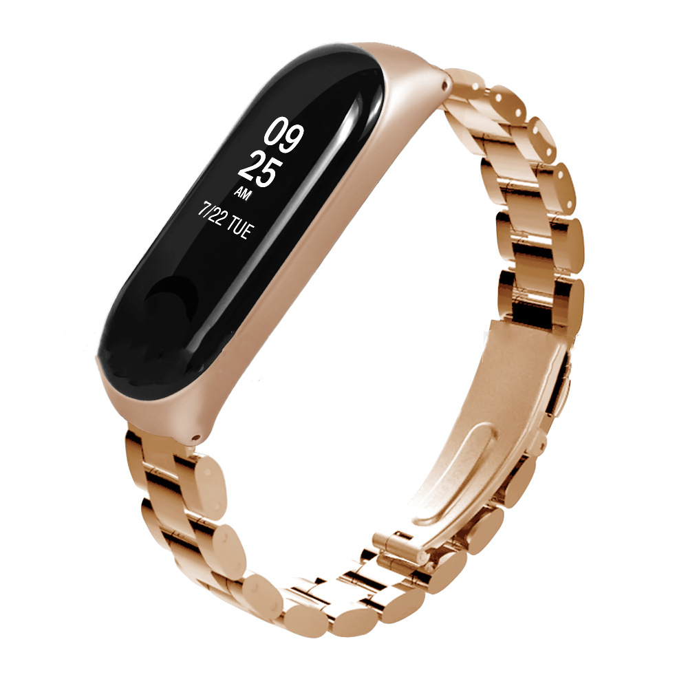 2019 Elegant stainless steel watch bands Milanese Loop Band For Xiaomi Mi Band 3 Metal Watch Strap фото