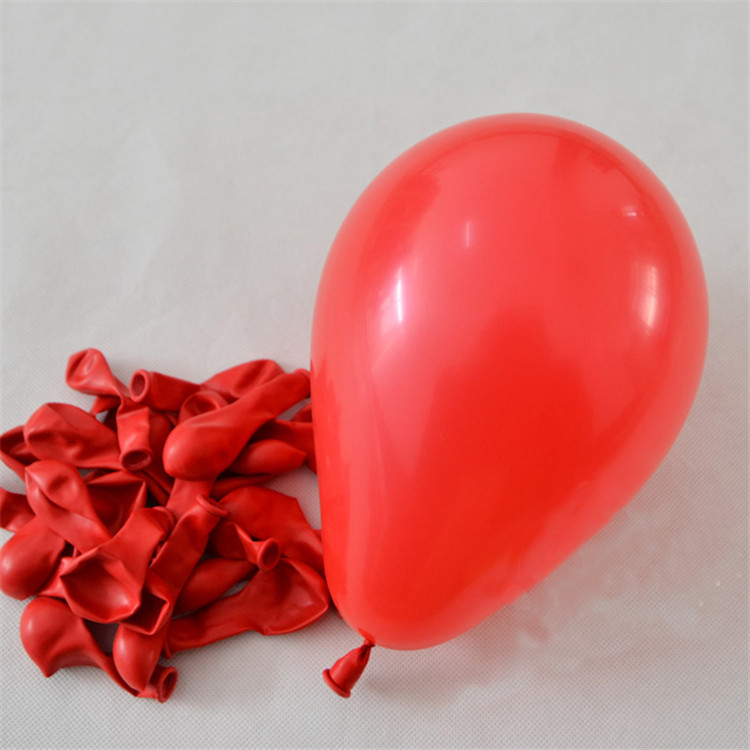 China Cheap Hot Sell Standard Red Solid Color 5 Inch Latex Balloon Small Round Shape Balloons Of Toy For Party/Decoration