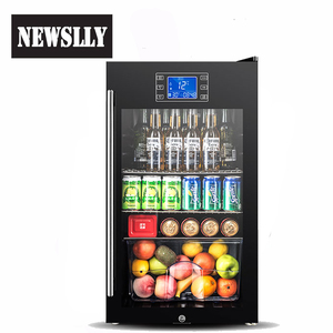 2018 beautiful design Black Smart Freestanding 110 Can Beverage Beer Cooler Wine Cooler with LCD display