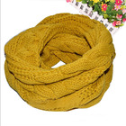 Twist Design 2015 Women Warm Infinity 2 Circles Cable Knit Cowl Neck Scarf Shawl Wraps 10 Colors