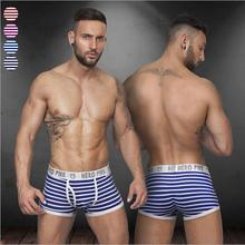 4 colors sexy gibs new disign underwear men cueca for male breathble Elastic boxers 2 colors Intersect shorts men ST508