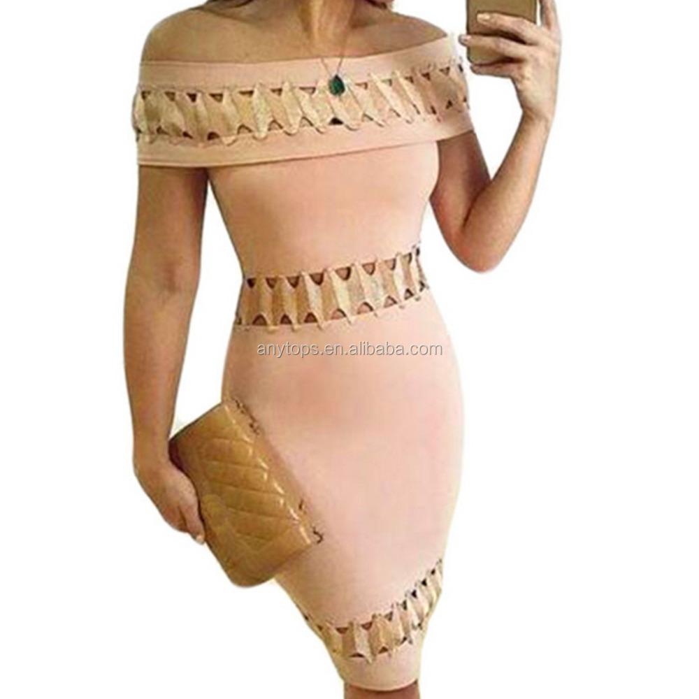 New backless elegant celebrity oem bodycon mermaid bandage dress фото