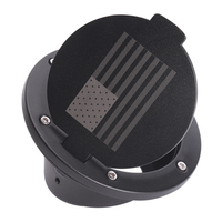 Oil Gas Tank Cap Cover 2/4 Door For Wrangler JK, Exterior Accessories Gas Tank Cap Cover Door Fuel Filler Door