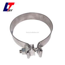performed lap joint exhaust clamp