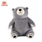 8 Inch Mini Grey Cheap Teddy Bear Plush Toys For Crane Claw Machines