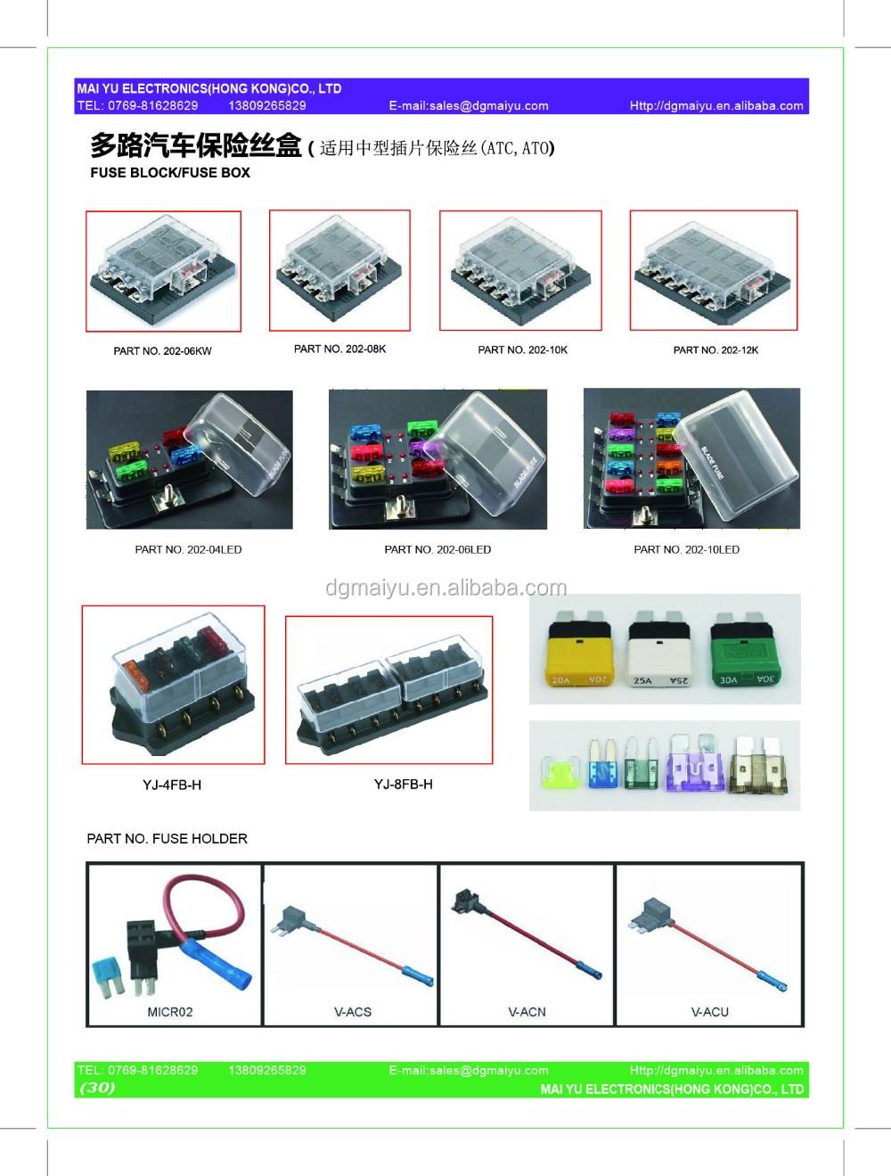 Dc 12v 24v 32v Automotive Car Boat Bus Inline Blade Fuse Holder Box Tap