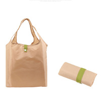 Eco-Friendly Wholesale heavy duty grocery bags Eco friendly tote nylon foldable reusable shopping bag