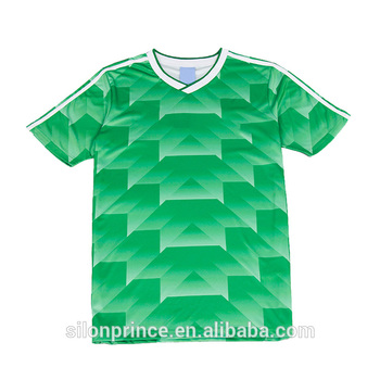 Germany 100% Polyester Breathable Memorial green soccer jersey custom soccer jersey football shirt