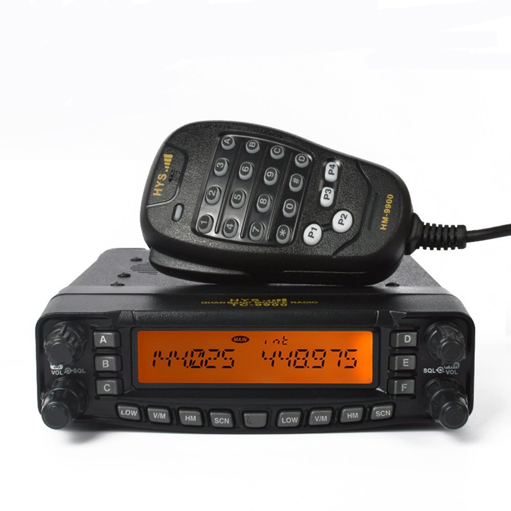 HYS TC-9900 50W Quad Band 10m 6m 2m 70cm HF VHF UHF Mobile Vehicle Radio CE FCC Transceiver
