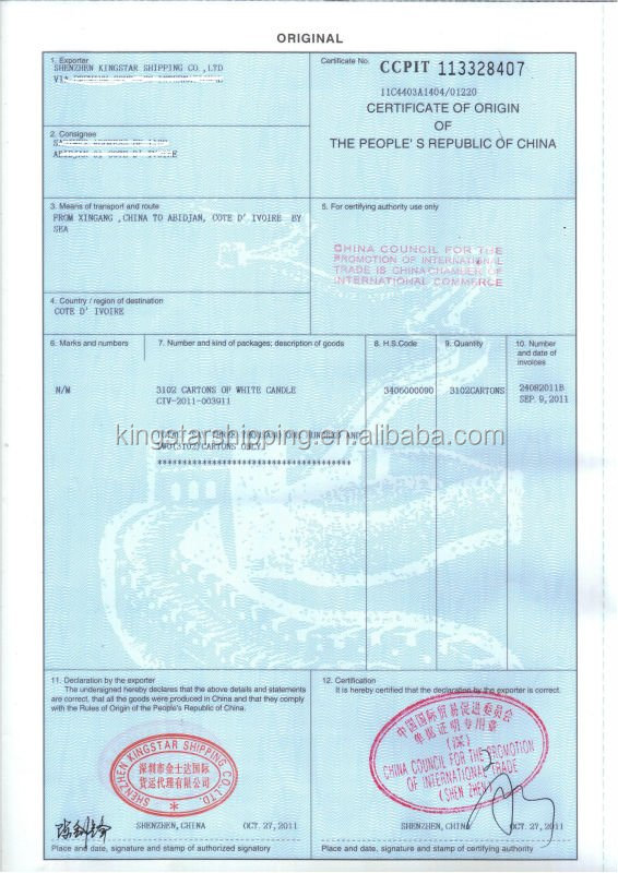 Form F Certificate Of Origin Form F Certificate Of Origin – Certificate of Origin Form