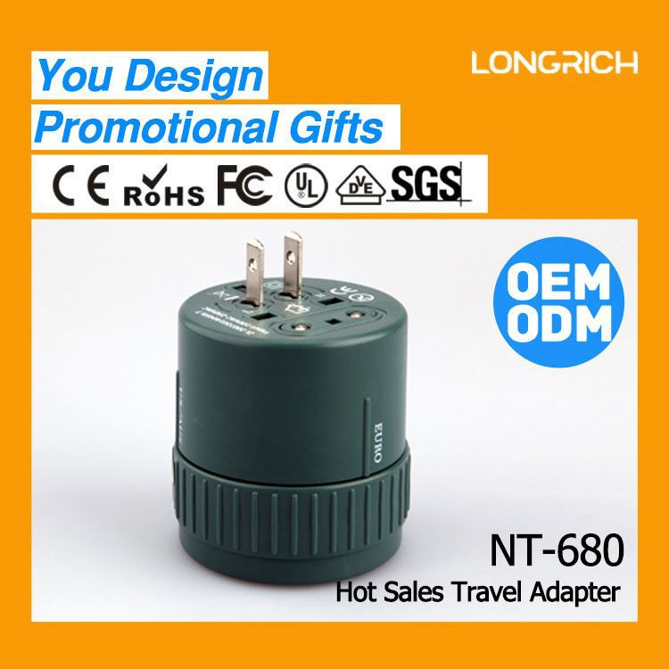 2014 LONGRICH TOP SALE EUR TO UK electronic plug With CE,ROHS Proved Popular For Corporate Promotion Gifts(NT680)