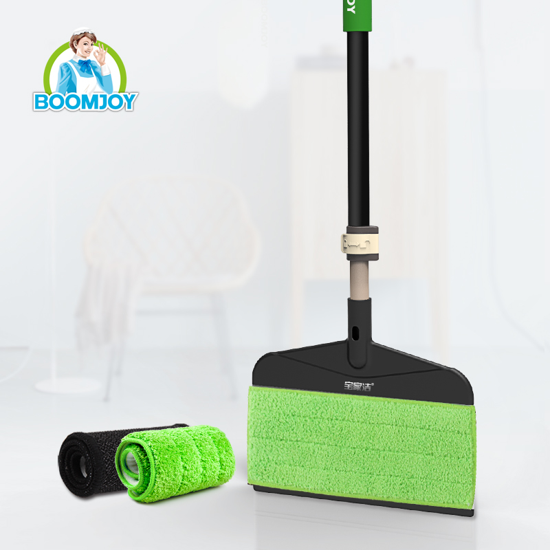 Boomjoy Innovative magic twist sweeper 360 easy floor cleaning microfiber flat mop/mop and sweeper two-in-one set