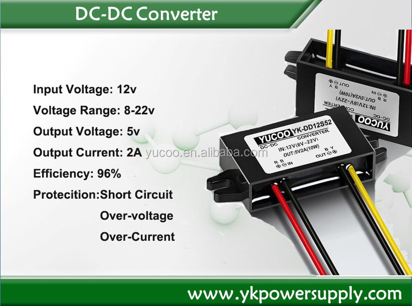 High reliability& Low cost DC TO DC Converter - step down 12vdc/24vdc to 5vdc 2A 10W