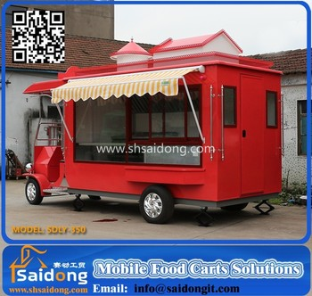CE Fashional Customized Mobile Pizza Cart Ice Cream Vintage Food Car