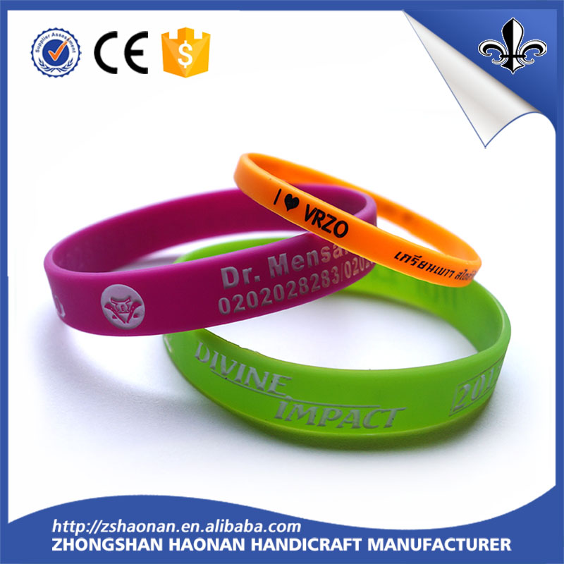 Silicone Material and Fashion,Sport Type wristband