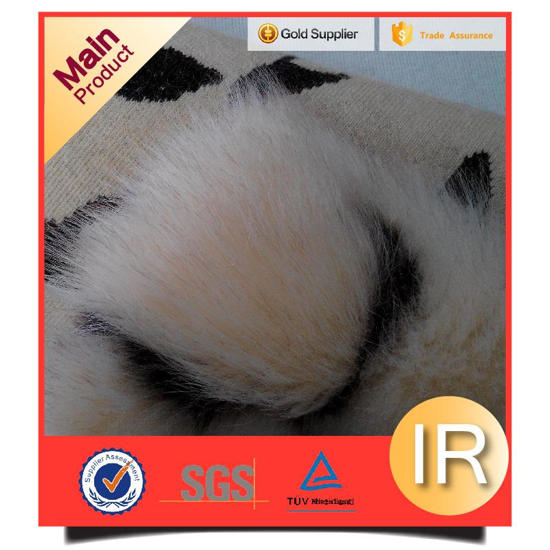 top grade supplier acrylic/polyester material jacquard artificial fur fake fur