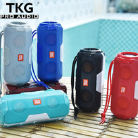 TKG FM radio TF card USB TG-143 water bottle bluetooth music box speaker cheap