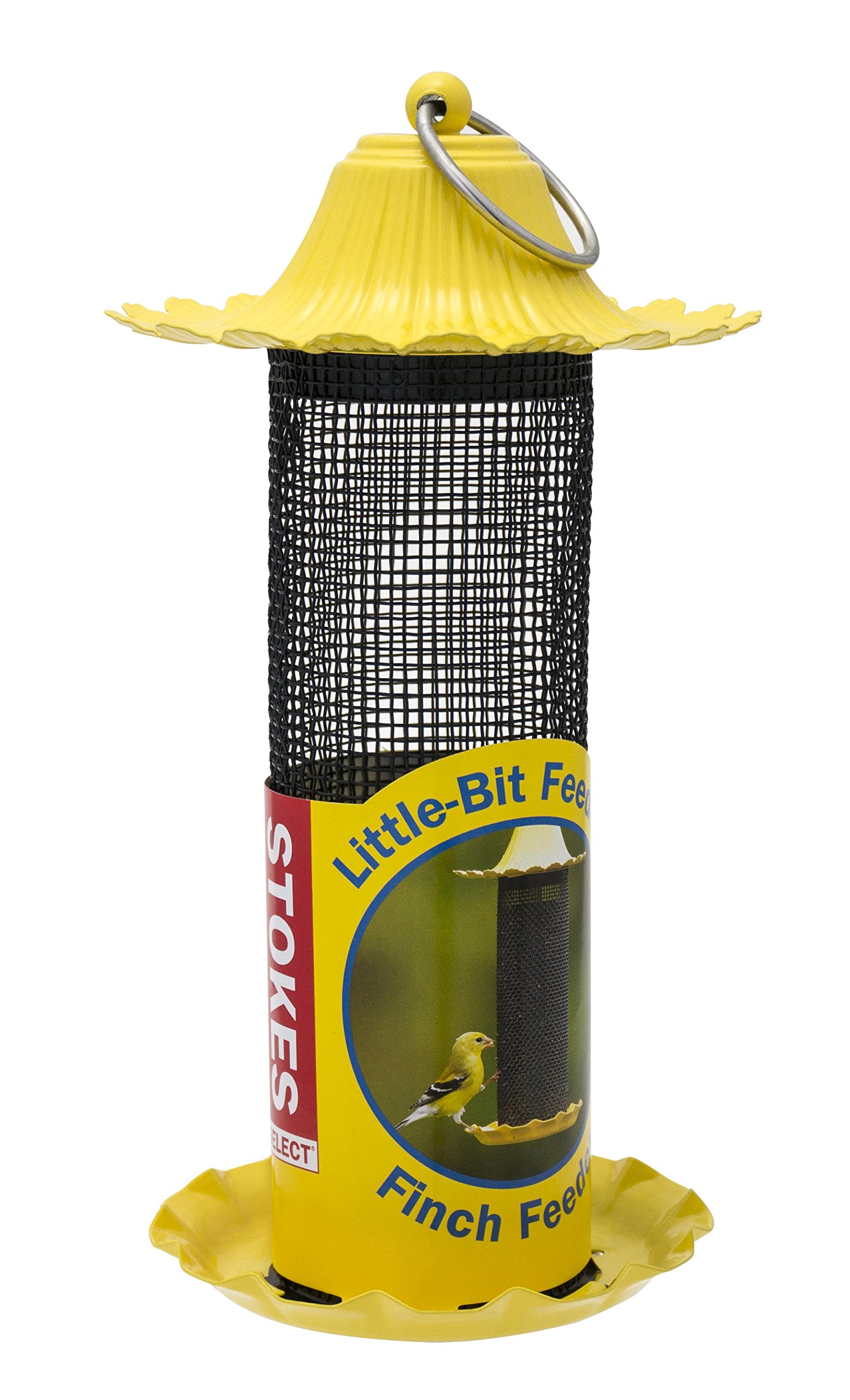 Get Quotations Stokes Select Little Bit Feeders Finch Bird Feeder With Metal Roof Yellow 6