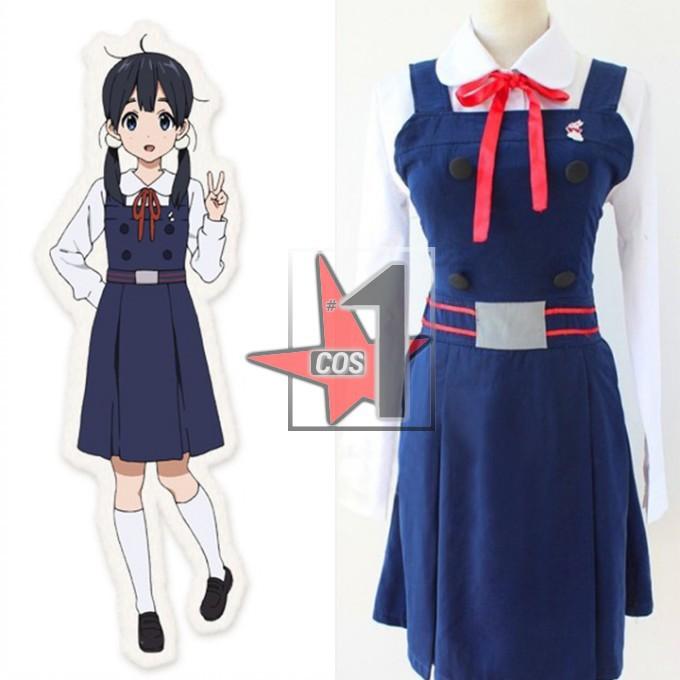 Tamako Market School Uniform Women Girl Anime Cosplay Costume