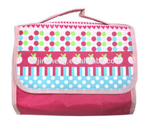 Custom portable satin travel cosmetic bag folding cosmetic bag